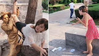 Street Troll - Must Watch New Funny😂 😂 Part 5 - Can't stop laughing【Laugh torn mouth】