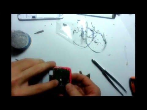 Lenovo A516 разборка и замена сенсора - YouTube