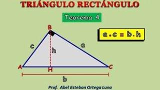 RELACIONES MÉTRICAS EN EL TRIÁNGULO RECTÁNGULO Teorema 4