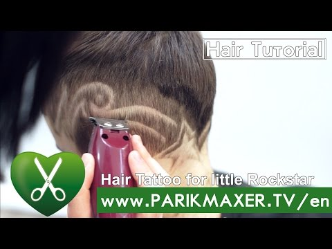 Hair Tattoo for little Rockstar parikmaxer TV USA