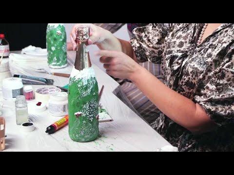 Мастер-класс по декорированию новогодней бутылки шампанского