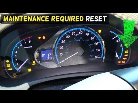 How To Reset Maintenance Light Toyota Sienna 2017