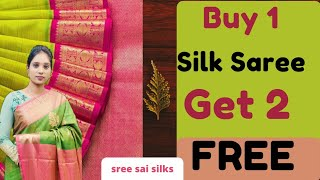 Buy 1 Get 2 Free / Pongal Offer / Marraige Gift Saree /sree sai silks