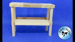 DIY Miniature - Table For The Dollhouse To The Dollhouse