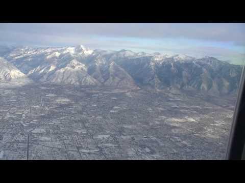 Salt Lake City Aerial Views - Wasatch Mountains