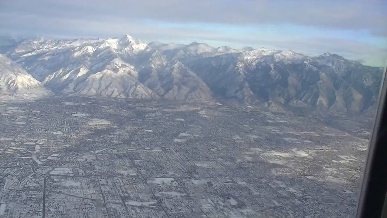 Salt Lake City Aerial Views - Wasatch Mountains - YouTube