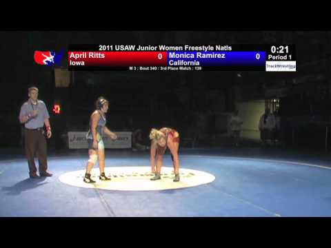 Junior Women 3rd 139 - April Ritts (IA) vs. Monica...