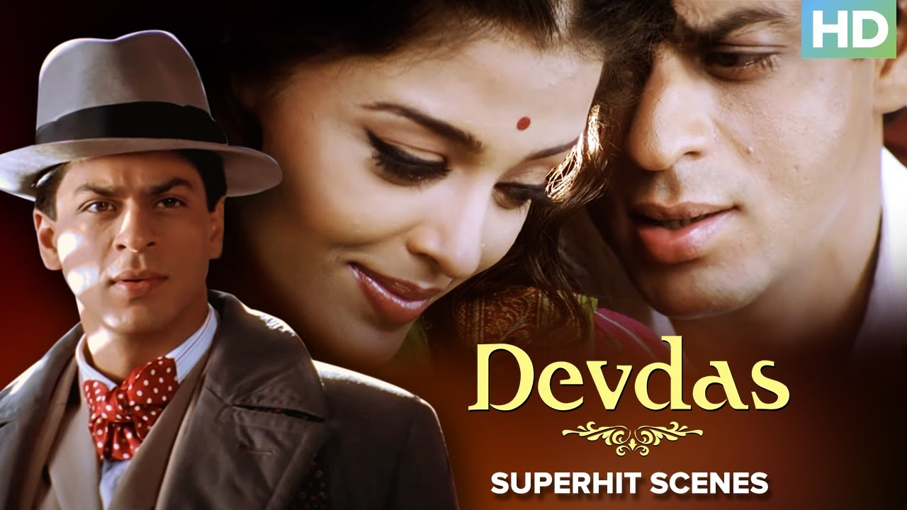 Devdas Superhit Scenes - Shahrukh Khan, Aishwarya Rai Bachchan & Madhuri Dixit - Bollywood Movie