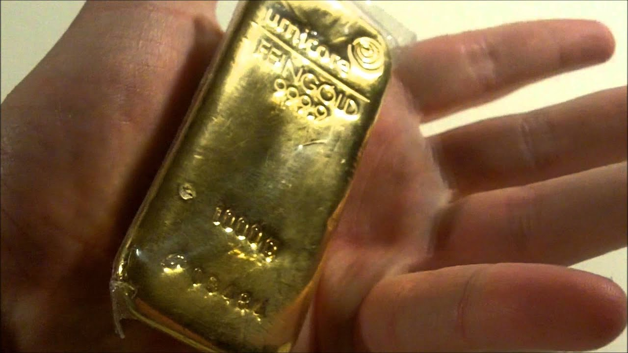 Umicore Goudbaar 1000 Gram    1 Kilo