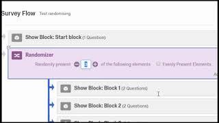 Qualtrics: Randomising between blocks (conditions)