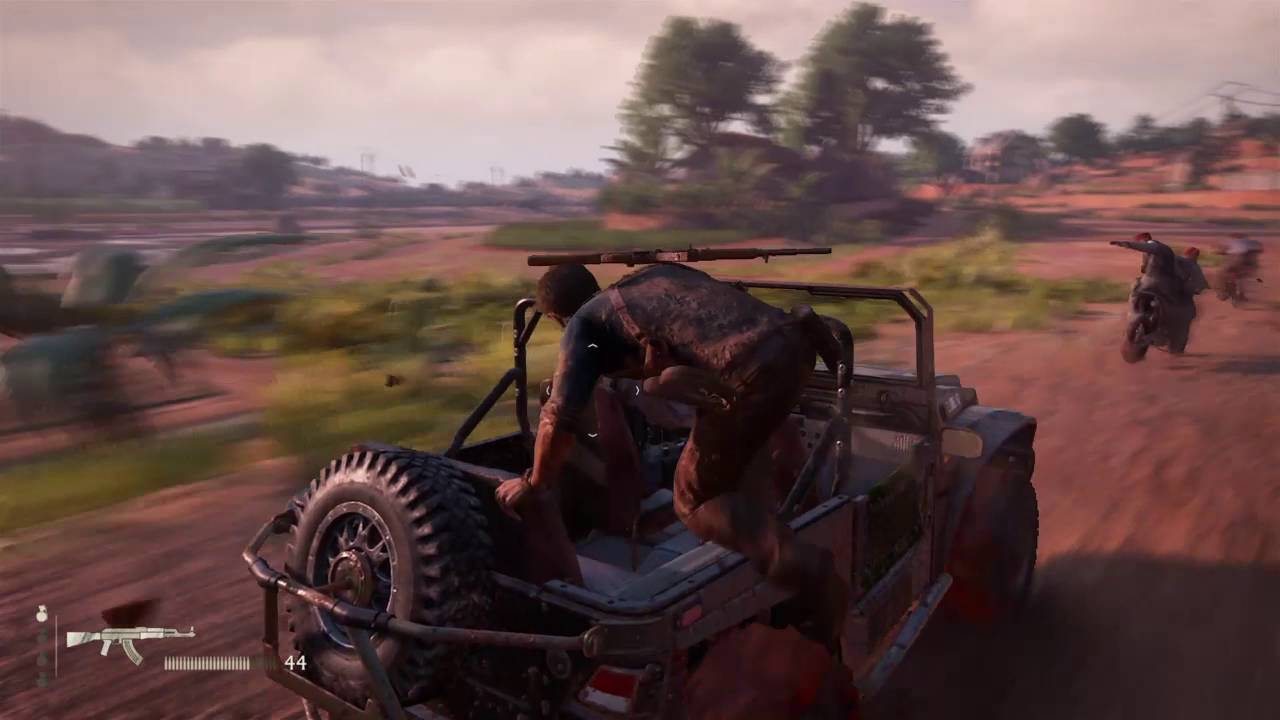 Uncharted 4 Car Chase Shooting Ps4 Youtube