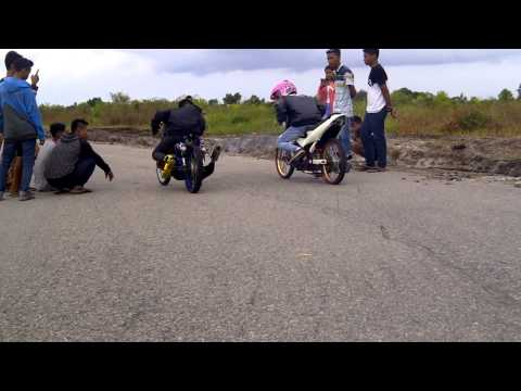 FU 155 vs FIZ R body drag palangkaraya