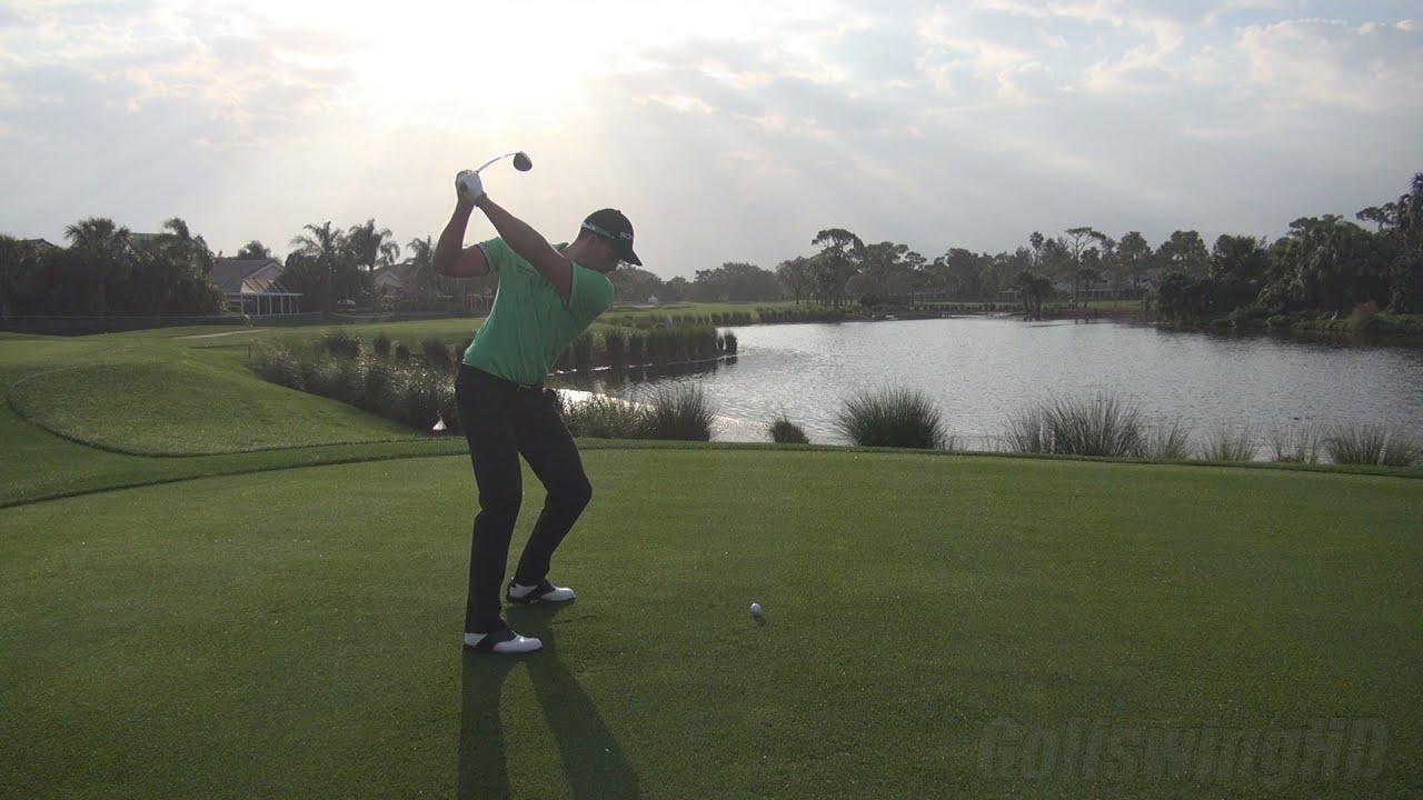Golf Swing 2013 Henrik Stenson Scenic Morning Tee Shot