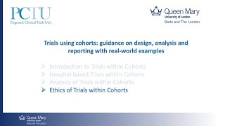 Ethics of Trials within Cohorts - Dr Clare Relton