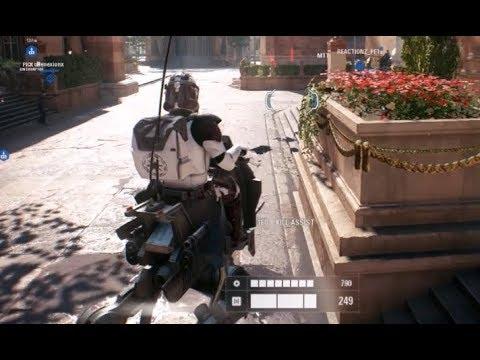 Star Wars Battlefront 2 Beta Galactic Assault 15 AT RT Gameplay