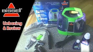 Unboxing and Review of Bissell Little Green ProHeat Carpet & Upholstery Cleaner