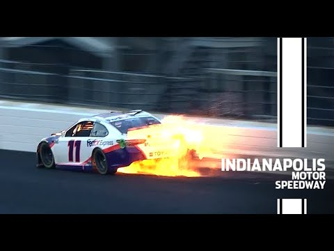 Hamlin crashes out of the lead at Indianapolis | NASCAR Cup Series