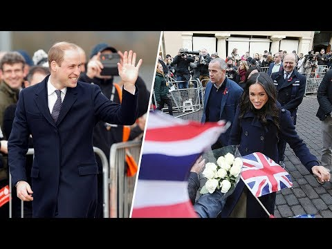 Harry and Meghan's Wales visit clashes with William engagement