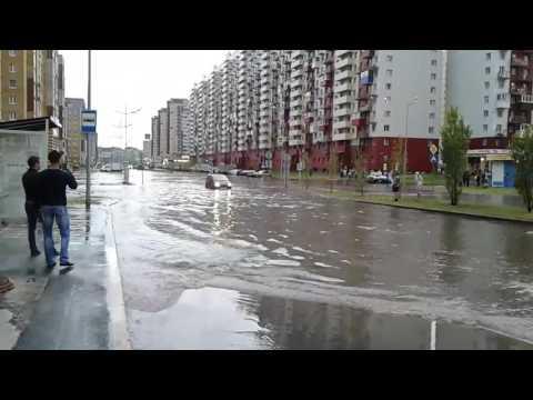 Потоп в Тюмени на Артамонова 18.06.17