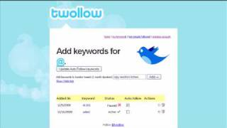 Add followers automatically to your twitter account (Targeted Leads Using Twollow.com)