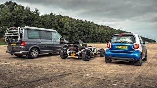 Drag Race! VW California Vs Atom 3.5R Vs Smart | Top Gear
