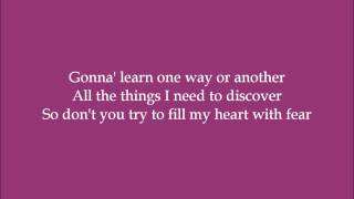 My Own Way - Cassandra Kubinski and Lori Martini ft. Jennifer Johnson (Dance Moms) - Lyrics