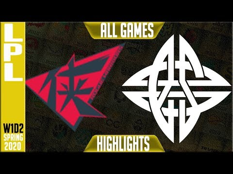 ES Vs RW Highlights ALL GAMES | LPL Spring 2020 W1D2 | Estar Vs Rogue Warriors