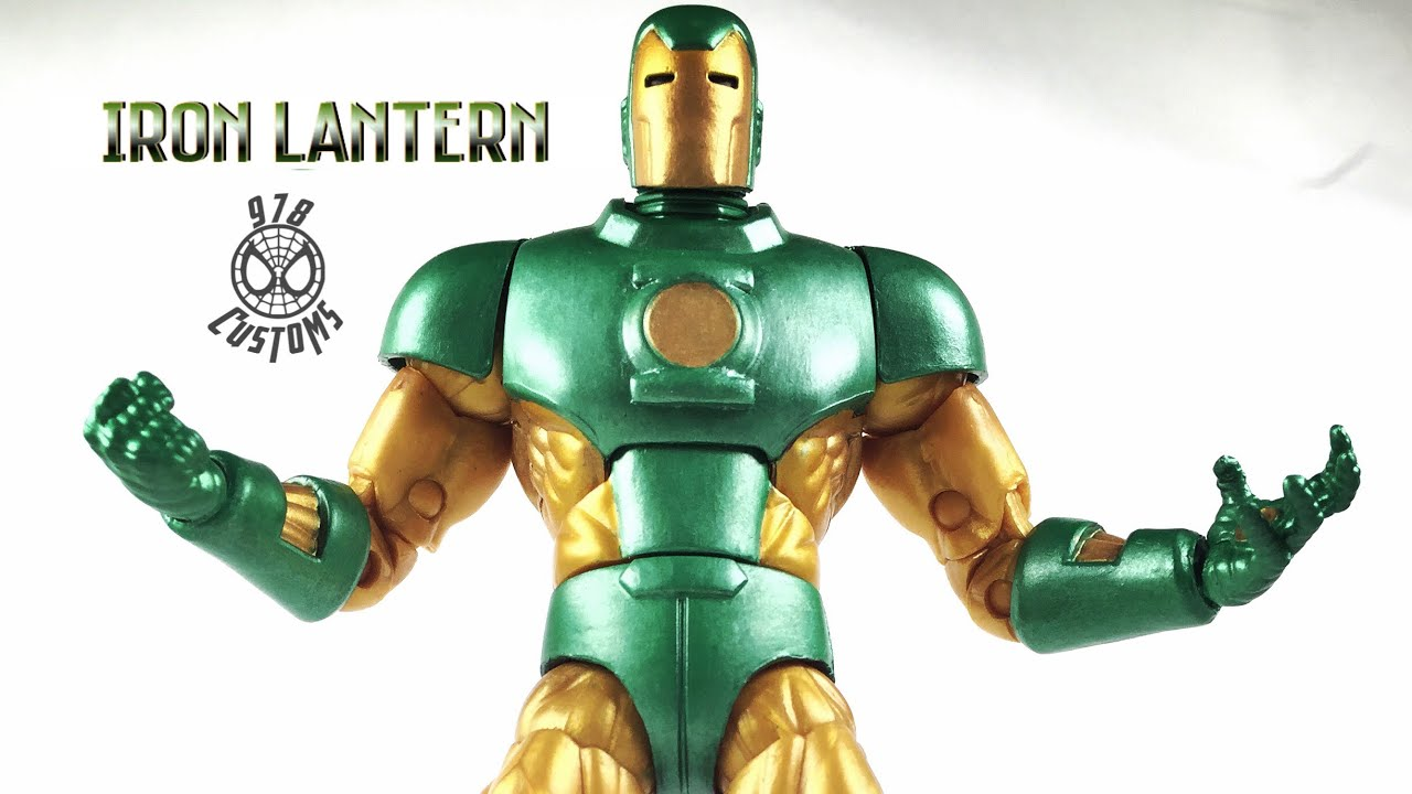 Custom Iron Lantern Marvel Legends Vintage Iron Man 6 Action Figure Review Youtube