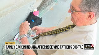 Man talks about getting father's dog tag back from North Korea