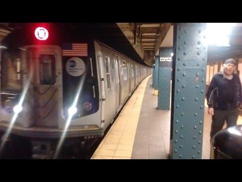 NYC Subway HD: Kawasaki R160B W Train Terminates @Whitehall St South Ferry 5/15/17