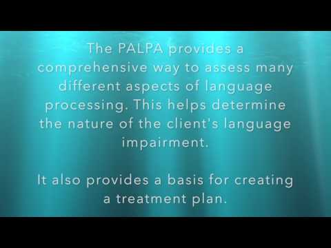 PALPA - Psycholinguistic Assessment of Language Processing in Aphasia