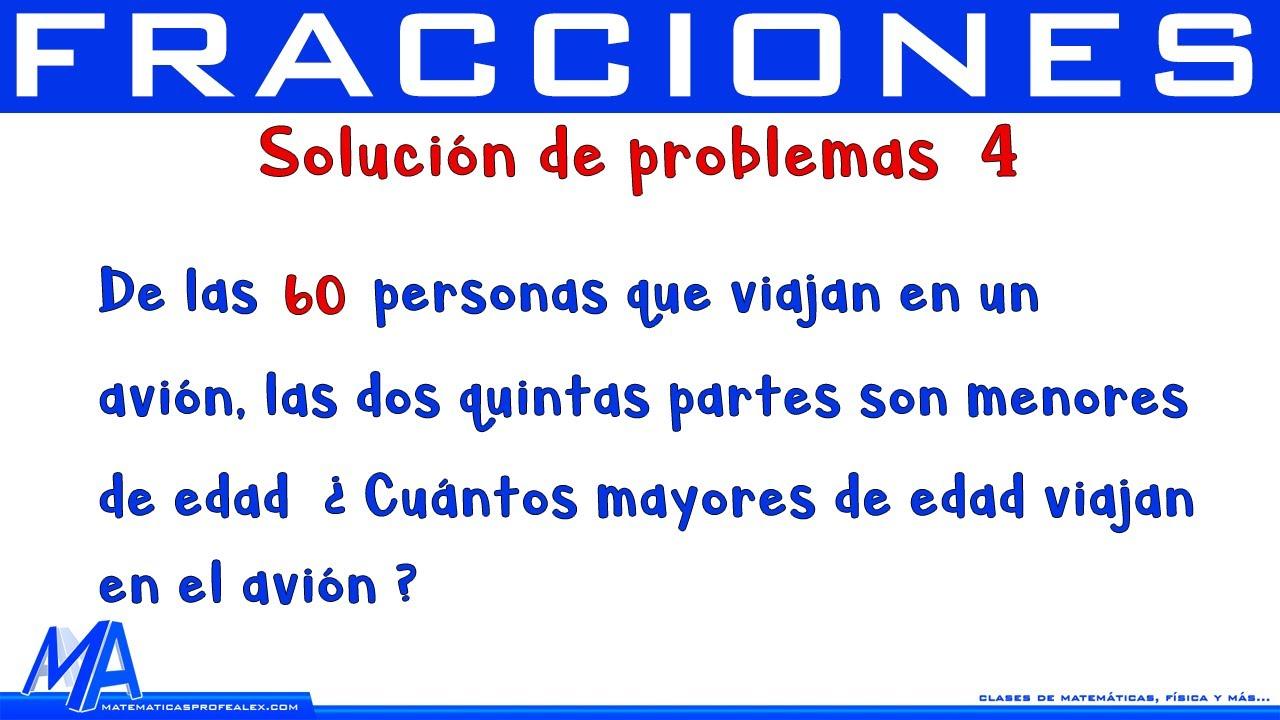 Solución de problemas con fracciones | Ejemplo 2 - YouTube
