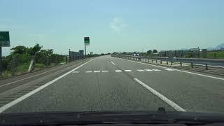 4K E8北陸自動車道 上り・米原方面 等速 その1 新潟中央JCT→長岡JCT→上越JCT