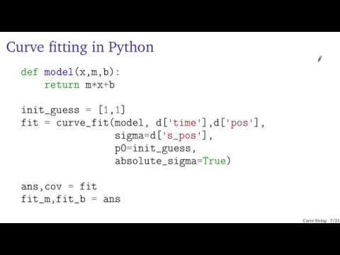 Curve fitting in Python with curve_fit