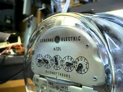 Old Kilowatt Hour Meters - Running