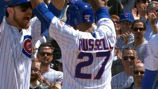 Russell, Bryant homer to power Cubs past Pirates