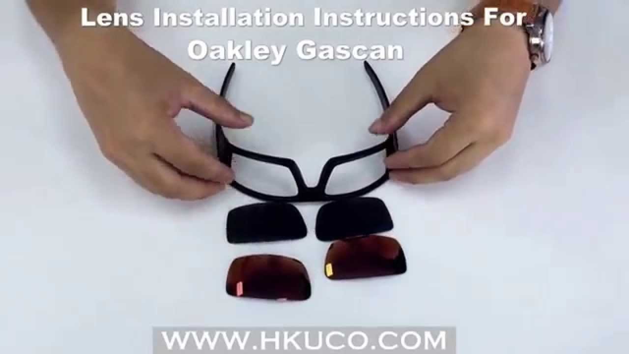 ab5b2b992a For Oakley GASCAN Lens Installation Instructions   HKUCO - YouTube