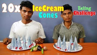 IceCream Cones Eating Challenge | Ice Cream Cone Eating Competition | Food Challenge