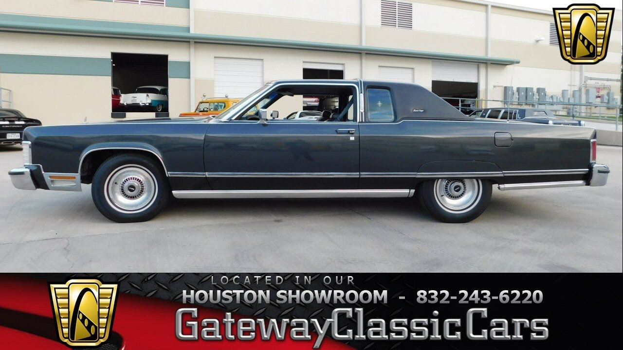 1976 Lincoln Continental Stock 520 Gateway Classic Cars Houston
