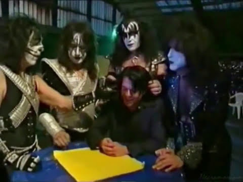 KISS - Setting Up The Reunion Tour Stage & Interviews - 1996