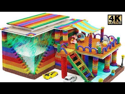 Asmr For Sleep - Build Most Beautiful Villa Using Magnetic Balls (Satisfying) | Magnet World Series