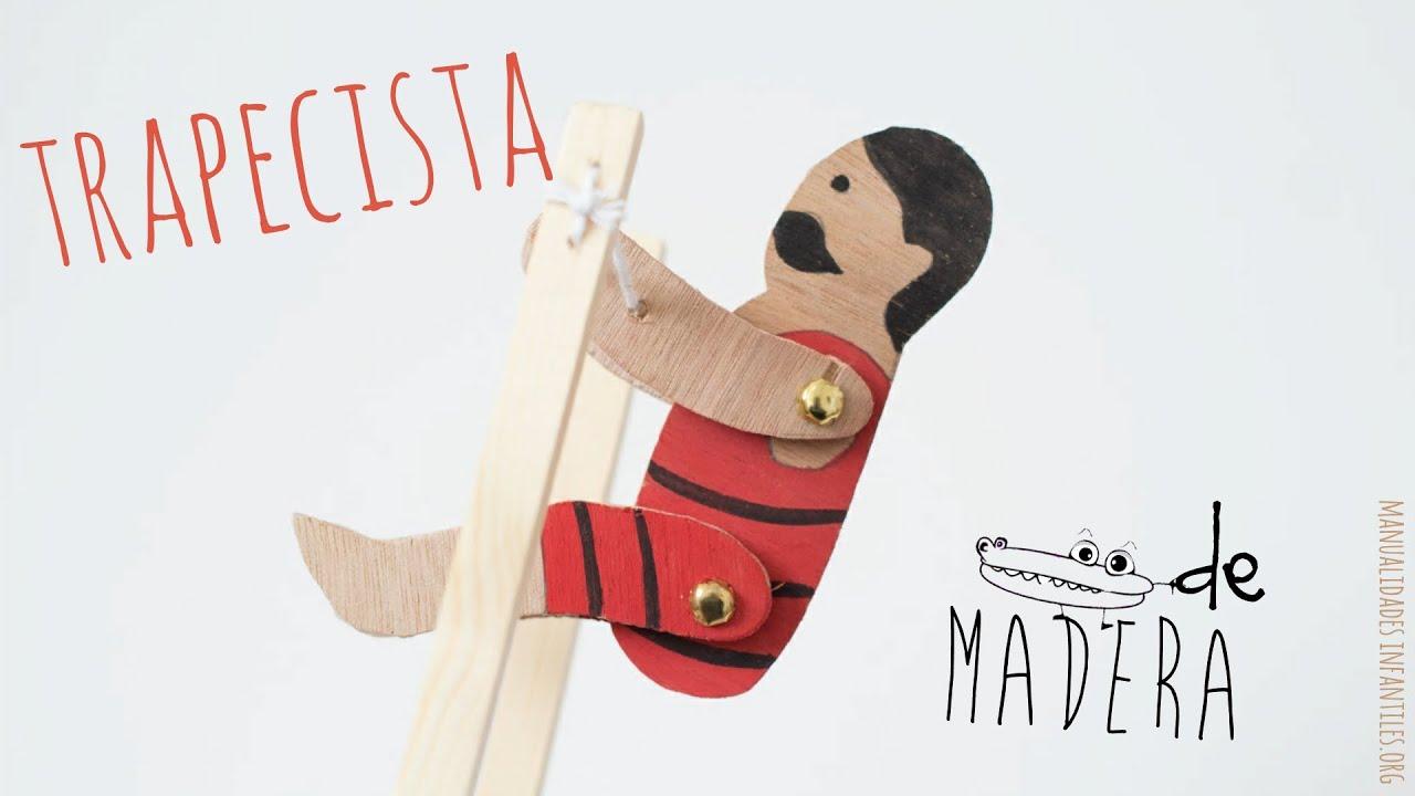 Trapecista juguete de madera youtube - Muebles de juguete en madera ...