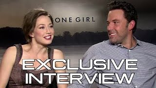 Ben Affleck And Carrie Coon Interview - Gone Girl (2014) David Fincher Movie HD