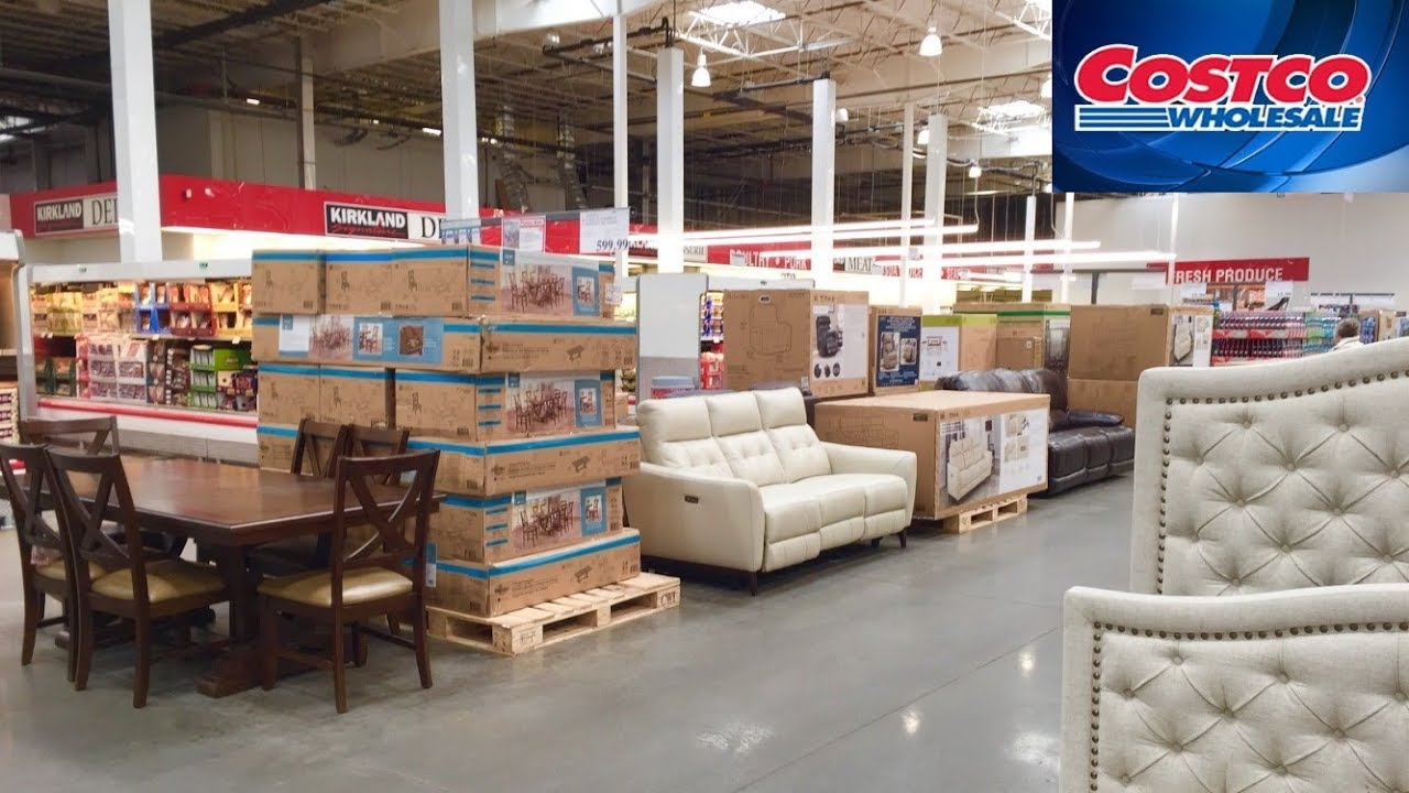 costco furniture sofas armchairs chairs tables home decor shop with me shopping store walk through
