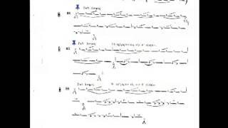 Byzantine Music Lesson 20 Ex 84-86 (Τρίγοργον)