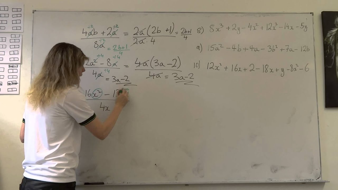 Simplifying Algebraic Fractions When Terms In The Numerator And Denominator  Two Different Methods
