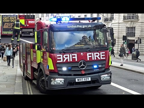 London Fire Brigade - (LFB) Leaving Zara Clothing After AFA Call Out