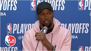 Kevin Durant talks 38-point night for Warriors in Game 3 | 2019 NBA Playoffs