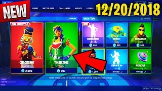 Fortnite Item Shop *NEW* TINSELTOES AND CRACKDOWN [December 20th, 2018]