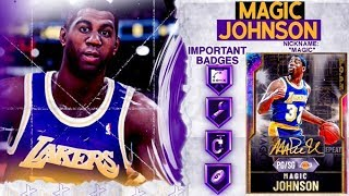 G.O.A.T. GALAXY OPAL MAGIC JOHNSON GAMEPLAY! 99 ALL STATS IS ALL HYPE! NBA 2k20 MyTEAM